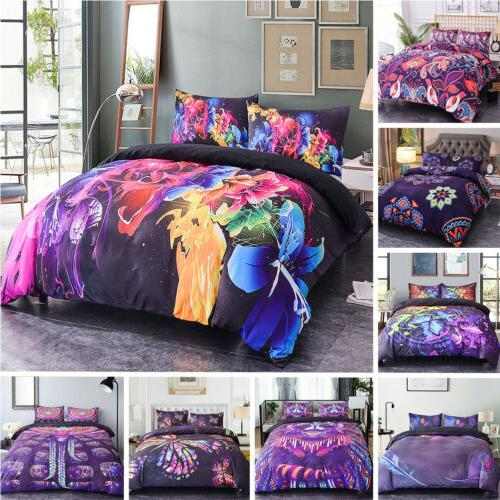 3D Floral Cover Bedding Single Double King