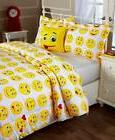 4 PC FULL/QUEEN SZ EMOJI COMFORTER, PILLOW & SHAM SET - YELL