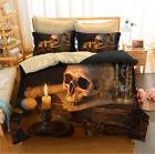 4pcs 3d skeleton bedding set bed quilt