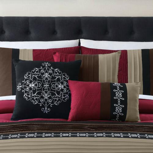 Chezmoi Collection 7-Piece Comforter Embroidery