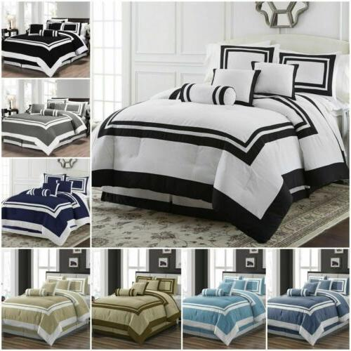 7 piece hotel style comforter set full