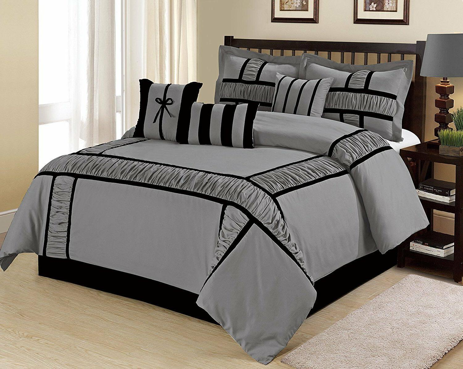 7 piece marma ruffle and patchwork comforter