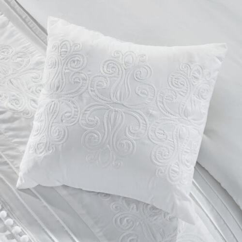 Grace Chenille Embroidered Pleated Comforter