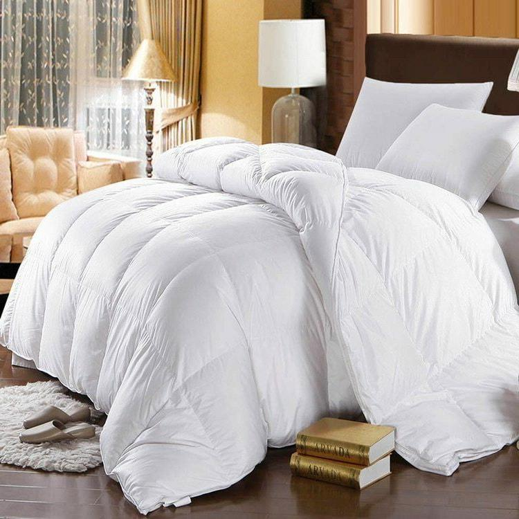 750 Fill Power White Goose Down Comforter Oversized Extra Wa