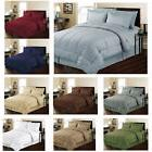 8 Piece Bed-In-A-Bag Hotel Dobby Embossed Comforter Sheet Be