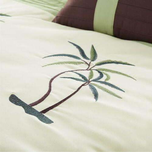 Palm Tree Embroidery Comforter