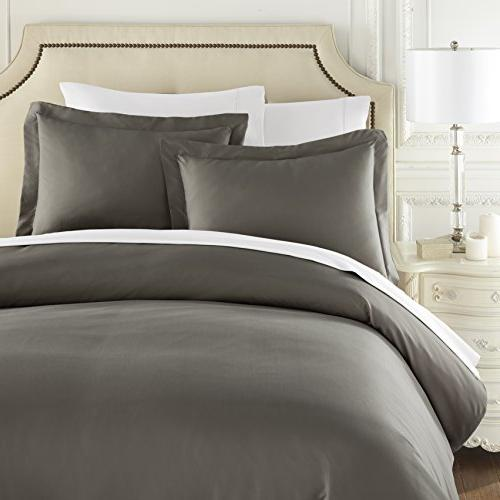 HC Thread Duvet Cover Queen 3pc Soft,