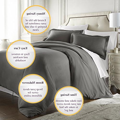 HC - Thread Quality Duvet Cover Queen Size, 3pc Soft,