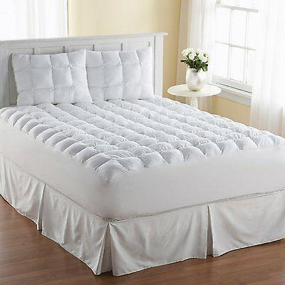 Mattress Pad 100 Cotton Queen Size Topper Pillow Top Bed Cov