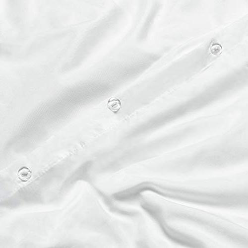 "Nestl Duvet Cover 3 Ultra Soft Microfiber Hotel Comforter with Closure Shams, White - 90""x90"""