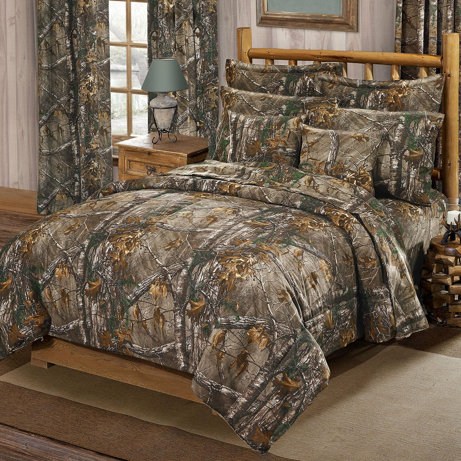 Realtree Xtra Queen Comforter Set w/sheets AP Camouflage 7pc