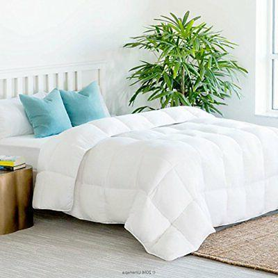 All Season Down Alternative Quilted Comforter Plush Microfib