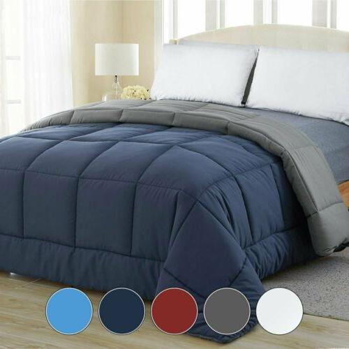 all season reversible down alternative quilted comforter