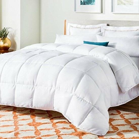All-Season White Down Alternative Quilted Comforter - Corner