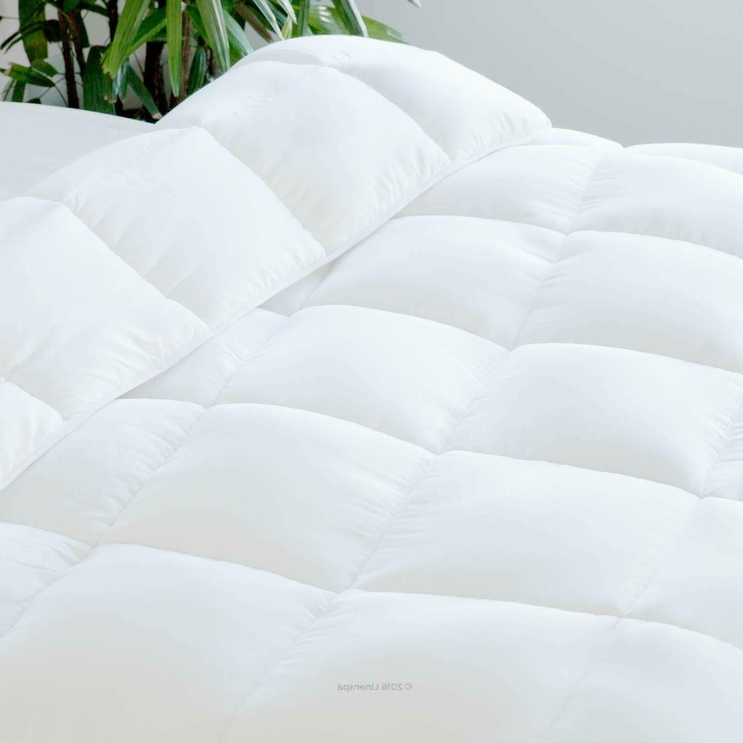 Queen Size All-Season White Alternative Quilted Comforter