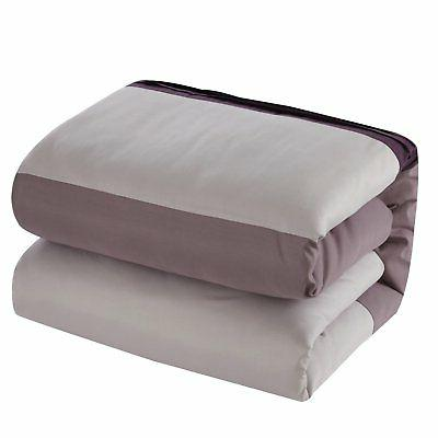 Chic Home Piece Block Bed a Bag Plum