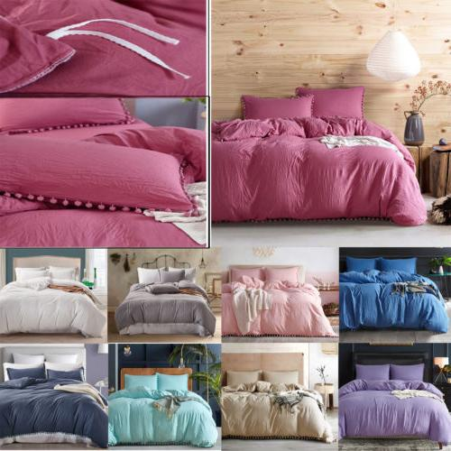 Bedding Set Comforter Duvet Cover Pillowcase Bed Set Solid C