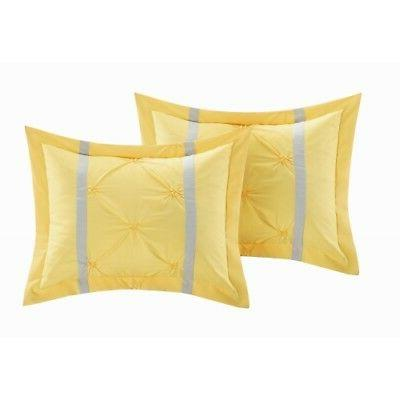 CHIC HOME YELLOW 8 PIECE SET BED BAG KING,QUEEN