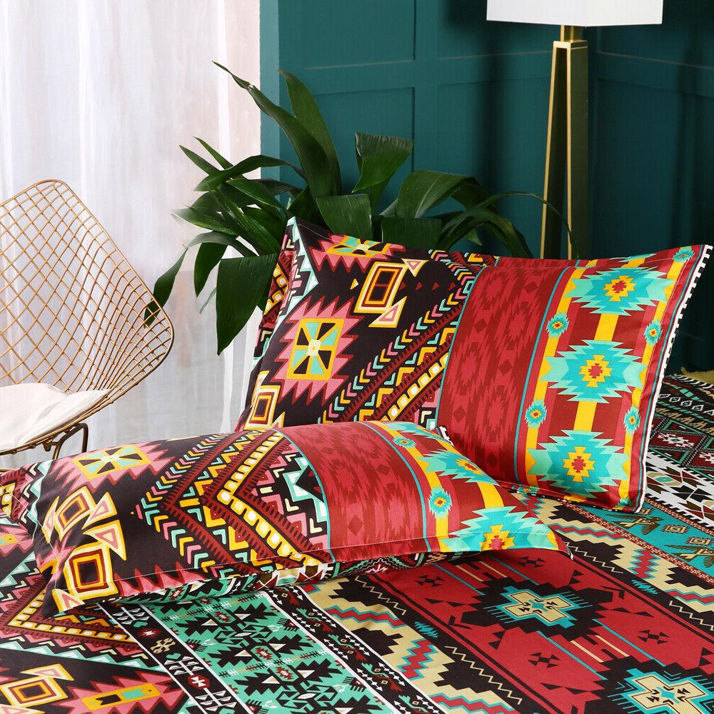 Bohemian Quilt Cover Set Comforter Cover Twin Size