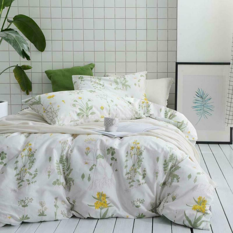 botanical comforter set 100 percent cotton fabric