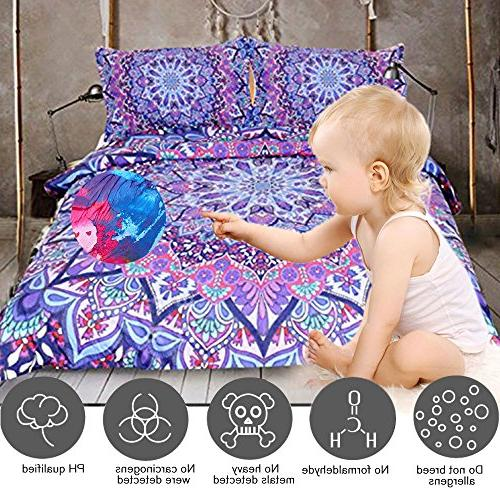 Sleepwish Bedding Mandalas Cover Purple Paisley Duvet Cover Quilt