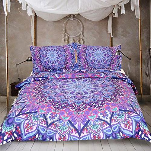 bright bedding glowing mandalas duvet
