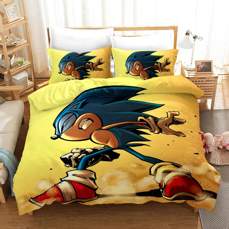 Cartoon Bedding Sonic Covers <font><b>Sets</b></font> Bed