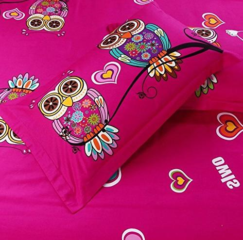 HNNSI 4 Style Owls Bedding Queen AB Version Design /Quit/Comforter Sets, Cozy Sets