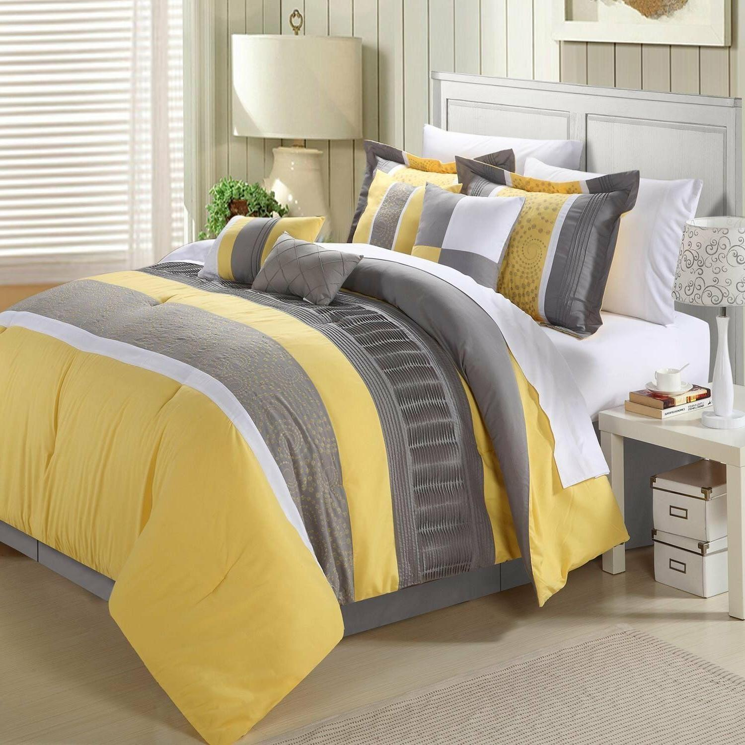 Chic Comforter Set, Floral Yellow