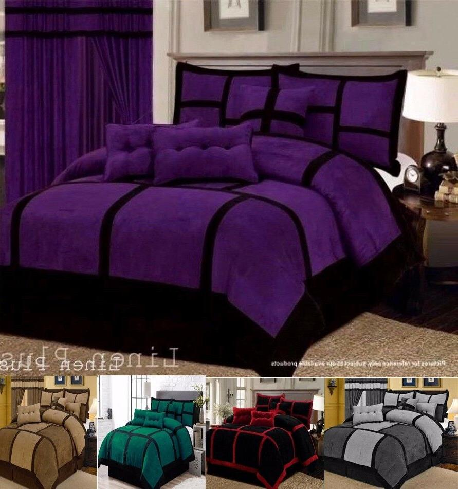 collection patchwork micro suede comforter set all
