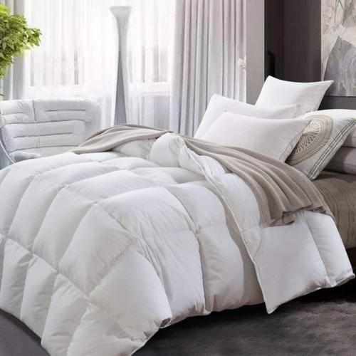 Comforter Down Alternative White All Season Duvet Stitched I
