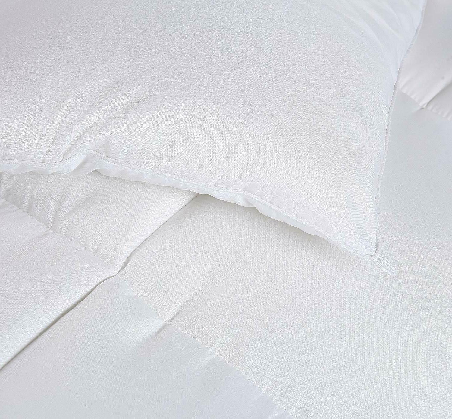 Comforter White Quilted Design