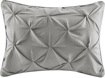 Comforter Bed In Tufted Bedding Grey 5 Piece