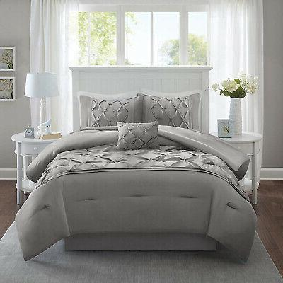Comforter Full Bed A Tufted Pattern Bedding 5 Piece