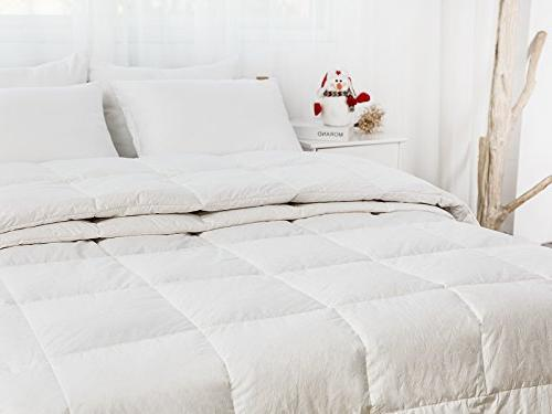 WhatsBedding Comforter Goose Down Feather All Season or Stand-Alone