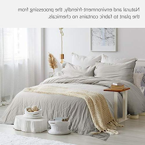 Linen with 2 Shams - Piece Breathable Beding Greige