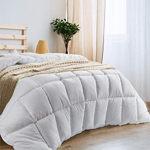 Bedsure Comforter Quilted Queen Full & Anti-Mite, Breathable Piece Down Alternative Machine Washable