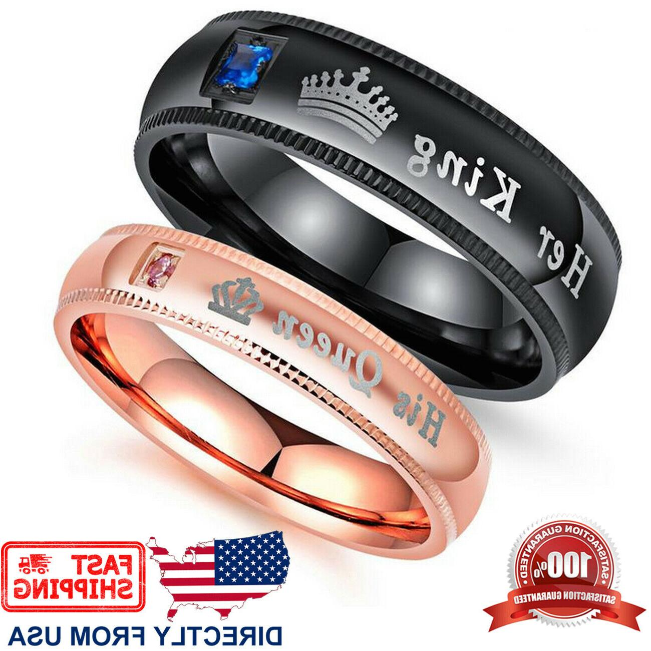 couple s matching ring his queen or