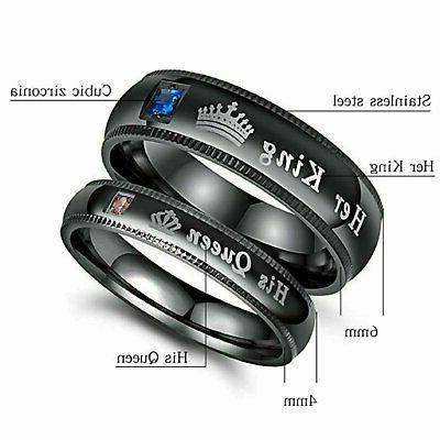 Couple's Matching Ring, Queen Her Wedding Ring