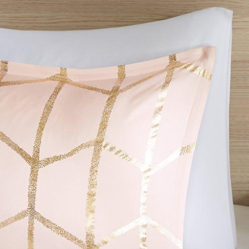 Intelligent Design Raina Comforter Set Full/Queen Blush – 5 – Soft Microfiber Teen Bedroom