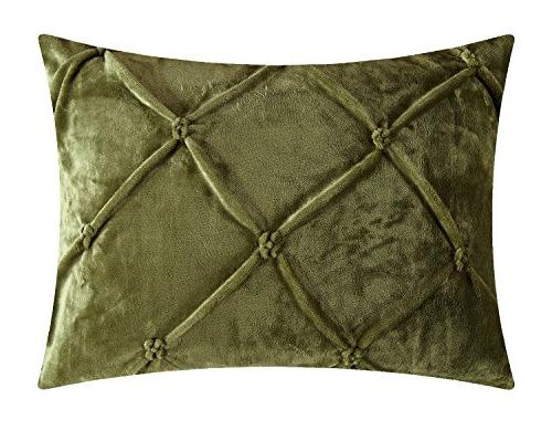 Chic 3 and Pin Lined a Comforter Green