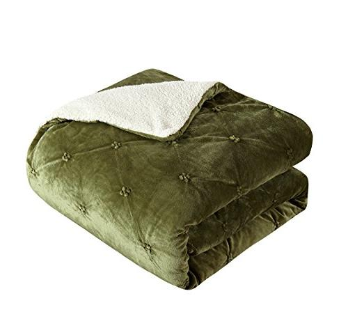 Chic 3 Josepha and Pin Tuck Sherpa Lined Queen Bed a Bag