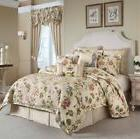 Croscill Daphne Queen Comforter ONLY-IVORY Embroidered Flowe