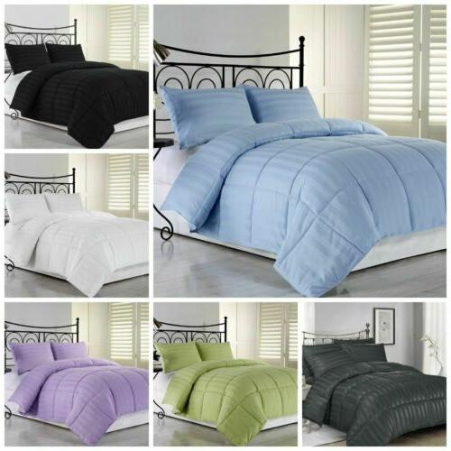 Goose Down Alternative Reversible color Comforter Twin, Full