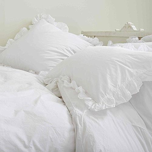 Kotton Culture Egyptian Cotton 3 Piece Frilled Cover 600 Thread Count Solid