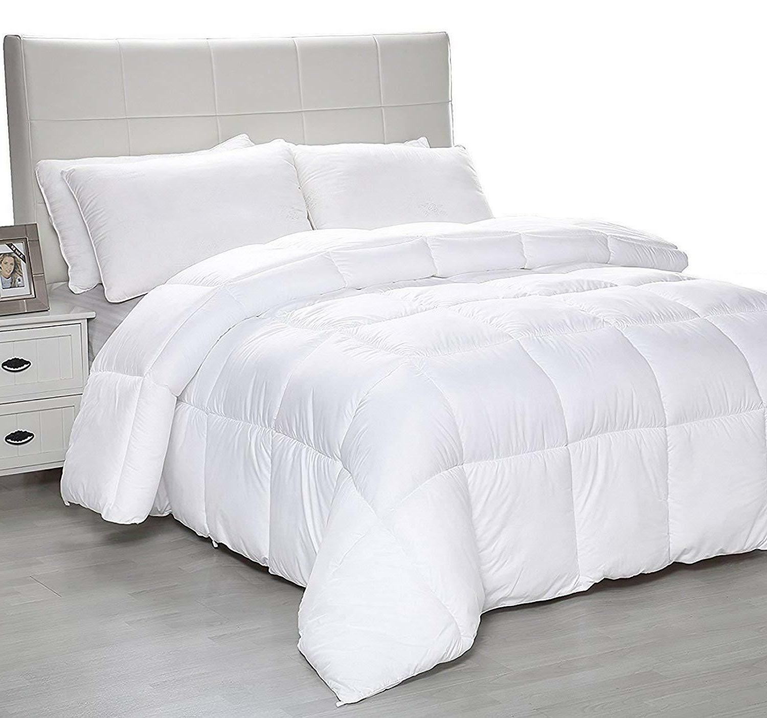 equinox all season charcoal quilted comforter goose