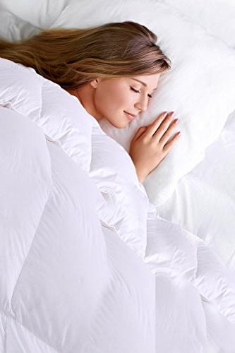 Equinox Down Hypoallergenic, Stitched Queen, Cover White Duvet Cover Queen