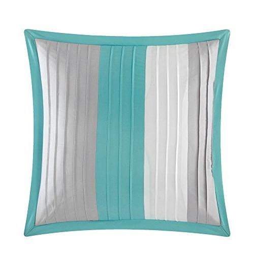 Chic Eyelet Block Pillows Included, Twin
