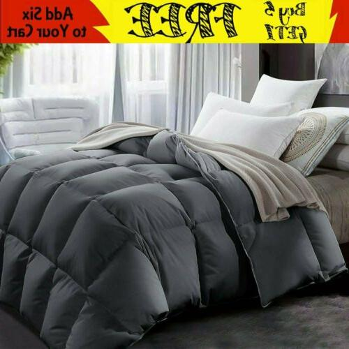 GOOSE DOWN ALTERNATIVE SUPERSOFT LUXURY COMFORTER KING QUEEN