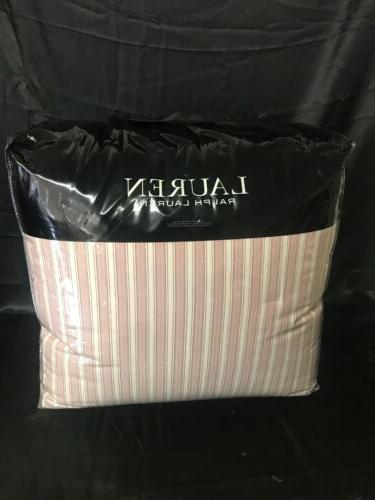 Ralph Bold Stripe Full/Queen Nantucket Red New